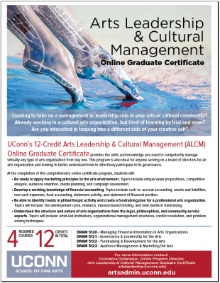 UConn Online Arts Leadership and Cultural Managment Graduate Certificate